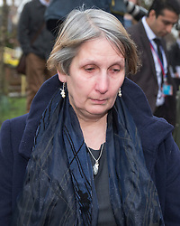© Licensed to London News Pictures. 02/03/2016. Ampthill, UK.  Alison Johnson leave the coroner's court after attending a pre-inquest review into the death of her son, Conservative party activist Elliott Johnson. Mr Johnson was found dead on a railway line in Bedfordshire a few weeks after he raised concerns about the way he had been treated in the Conservative youth wing. Photo credit: Peter Macdiarmid/LNP