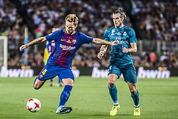 August 13, 2017 - Barcelona, Catalonia, Spain - FC Barcelona midfielder I. RAKITIC competes with Real Madrid forward BALE for the ball during the Spanish Super Cup Final 1st leg between FC Barcelona and Real Madrid at the Camp Nou stadium in Barcelona (Credit Image: © Matthias Oesterle via ZUMA Wire)