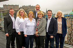 Pictured: Colin McFadyen, Heather Ashbury, Kate Fotreman, Peter Griffiths, Anna Soubry, Chris Leslie and Catherine Edgeworth<br /> <br /> European Election candidates from Change UK headed to Edinburgh today to rally voters to their drive to remain in the EU.  Led by MPS Anna Soubry, Chris Leslie and Gavin Shuker, candidates Kate Foreman, Colin McFadyen, Peter Griffiths, Heather Astbury and Catherine Edgeworth had the oppertunity to explain why they were backing the new party.<br /> <br /> Ger Harley | EEm 19 May 2019
