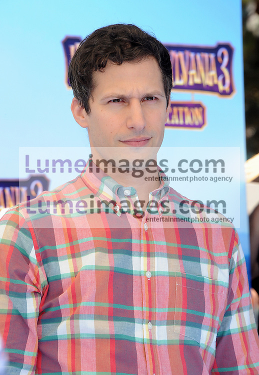 Andy Samberg at the World premiere of 'Hotel Transylvania 3: Summer Vacation' held at the Regency Village Theatre in Westwood, USA on June 30, 2018.
