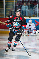 KELOWNA, CANADA - NOVEMBER 1: Jake Kryski #14 of the Kelowna Rockets warms up with the puck against the Kamloops Blazers on November 1, 2016 at Prospera Place in Kelowna, British Columbia, Canada.  (Photo by Marissa Baecker/Shoot the Breeze)  *** Local Caption ***