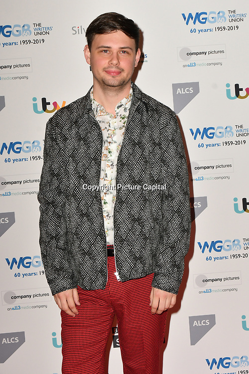 Ben Weatherill attends 2019 Writers' Guild Awards at Royal College of Physicians on 14 January 2019, London, UK