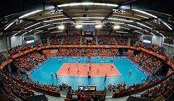 29-12-2013 VOLLEYBAL: DELA TROPHY NEDERLAND - BELGIE: DEN BOSCH <br /> Nederland verliest de eerste wedstrijd met 3-2 van Belgie / Maaspoort volledig uitverkocht. Support, Oranje<br /> ©2013-FotoHoogendoorn.nl
