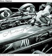 Austin-Healey 100 valve cover & engine