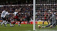 Photo: Steve Bond/Sportsbeat Images.<br />Derby County v Blackburn Rovers. The FA Barclays Premiership. 30/12/2007. Keeper Lewis Price saves from Benni McCarthy (CL) but Roque Santa Cruz scores following up