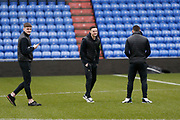Forest Green players inspecting the pitch during the EFL Sky Bet League 2 match between Oldham Athletic and Forest Green Rovers at Boundary Park, Oldham, England on 15 February 2020.