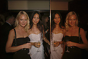 HAYLEY MENZIES AND MELISSA HEMSLEY, launch of The Bar at the Dorchester. Park Lane. London. 27 June 2006. ONE TIME USE ONLY - DO NOT ARCHIVE  © Copyright Photograph by Dafydd Jones 66 Stockwell Park Rd. London SW9 0DA Tel 020 7733 0108 www.dafjones.com