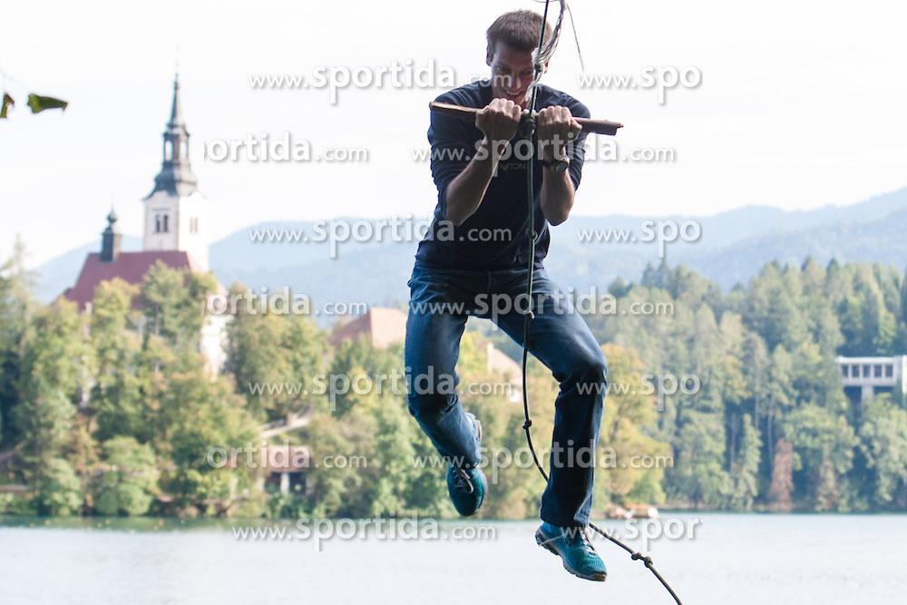 Nik Dolic during rowing at Slovenian National Championship and farewell of Iztok Cop, on September 22, 2012 at Lake Bled, Ljubljana Slovenia. (Photo By Matic Klansek Velej / Sportida)