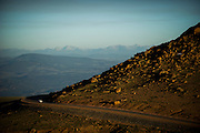 June 26-30 - Pikes Peak Colorado. Atmosphere during morning practice for the Pikes Peak Hill Climb