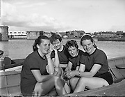 Female Rowing Crew in Galway -  .23/06/1958 .