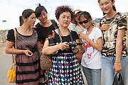 Chinese tourists in the Khorgos free-trade zone. 2014