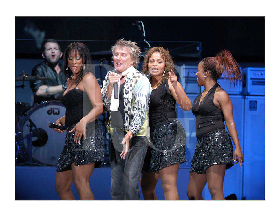 Scottish singer Rod Stewart performs at the SECC Glasgow..1/05/05