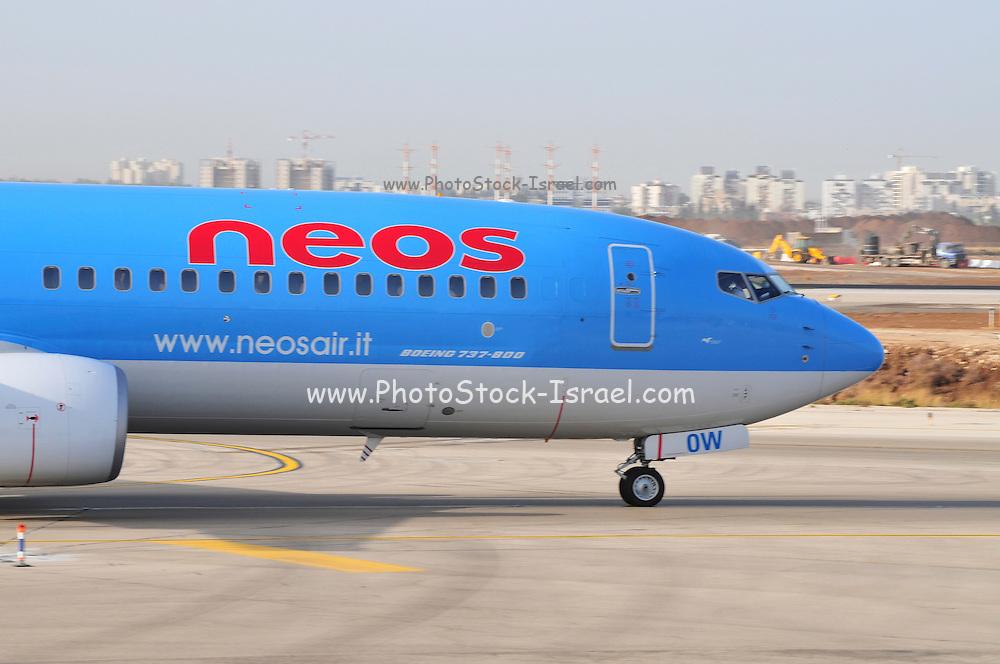 Israel, Ben-Gurion international Airport Neos Airlines Boeing 737-800
