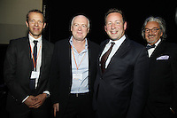 Geoff Taylor (BPI Chief Executive), Tony Wadsworth CBE (BPI Chairman), Ed Vaizey MP and Rob Dickins CBE. (l-r) The BRIT School Industry Day, Croydon, London..Thursday, Sept.22, 2011 (John Marshall JME)