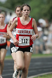 Hamilton, Ontario ---07/06/08--- Katie Pettes of Aurora in Aurora competes in the 3000 meters at the 2008 OFSAA Track and Field meet in Hamilton, Ontario..Sean Burges