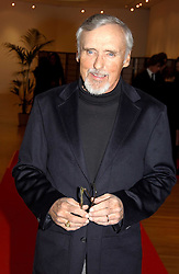 Film director DENNIS HOPPER at an exhibition of photographs by Jack Cardiff held at The Royal College of Art, Kensington Gore, London on 10th November 2004.<br />