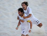 FIFA BEACH SOCCER WORLD CUP 2008 ITALY - SPAIN  26.07.2008 Roberto PASQUALI (l) celebrates with Paolo PALMACCI (ITA).
