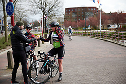 Lisa Klein (GER) and Alice Barnes (GBR) regroup after Healthy Ageing Tour 2019 - Stage 3, a 124 km road race starting and finishing in Musselkanaal, Netherlands on April 12, 2019. Photo by Sean Robinson/velofocus.com