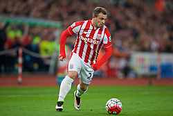 STOKE-ON-TRENT, ENGLAND - Monday, April 18, 2016: Stoke City's Xherdan Shaqiri in action against Tottenham Hotspur during the FA Premier League match at the Britannia Stadium. (Pic by David Rawcliffe/Propaganda)