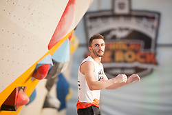 Manuel Cornu (FRA) at Fnal of Climbing event - Triglav the Rock Ljubljana 2018, on May 19, 2018 in Congress Square, Ljubljana, Slovenia. Photo by Urban Urbanc / Sportida