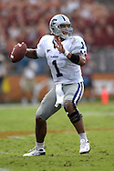 September 29, 2007 - Austin, TX..Quarterback Josh Freeman of the Kansas State Wildcats drops back to pass against the Texas Longhorns in the second half, during a NCAA football game at Darrell Royal-Texas Memorial Stadium on September 29, 2007...FBC:  The Wildcats defeated the Longhorn 41-21.  .Photo by Peter G. Aiken/Cal Sport Media