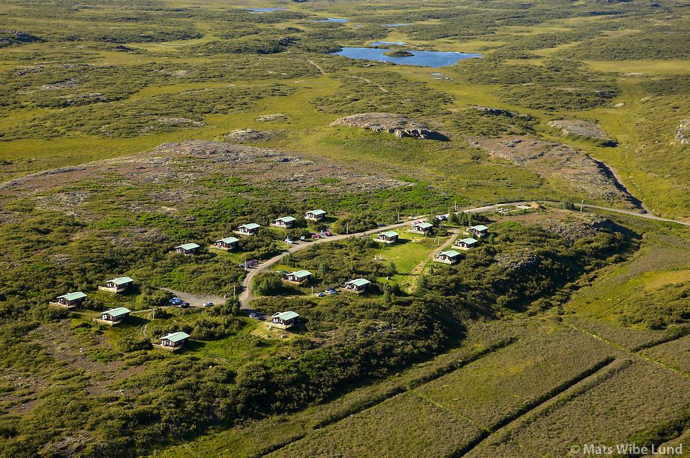 Stóru-Skógar BSRB, séð til norðvesturs, Stafholtstungnahreppur /.Storu-Skogar BSRB holiday homes, viewing northwest, Stafholtstungnahreppur.