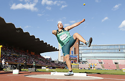 July 10, 2018 - Tampere, Suomi Finland - 180710 Friidrott, Junior-VM, Dag 1: Kyle Bilgnaut RSA  competes in Shot Put  during the IAAF World U20 Championships day 1 at the Ratina stadion 10. July 2018 in Tampere, Finland. (Newspix24/Kalle Parkkinen) (Credit Image: © Kalle Parkkinen/Bildbyran via ZUMA Press)