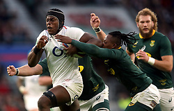 England's Maro Itoje is tackled by South Africa's Sibusiso Nkosi during the Autumn International match at Twickenham Stadium, London.