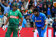 Wicket - Jasprit Bumrah of India celebrates taking the wicket of Rubel Hossain of Bangladesh during the ICC Cricket World Cup 2019 match between Bangladesh and India at Edgbaston, Birmingham, United Kingdom on 2 July 2019.