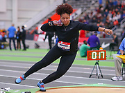 Jessica Ramsey competes in the shot put during the USA Indoor Track and Field Championships in Staten Island, NY, Sunday, Feb 24, 2019. (Rich Graessle/Image of Sport)