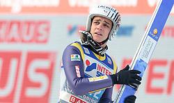 03.01.2016, Bergisel Schanze, Innsbruck, AUT, FIS Weltcup Ski Sprung, Vierschanzentournee, Bewerb, im Bild Ronan Lamy Chappuis (FRA) // Ronan Lamy Chappuis of France reacts after his Competition Jump of Four Hills Tournament of FIS Ski Jumping World Cup at the Bergisel Schanze, Innsbruck, Austria on 2016/01/03. EXPA Pictures © 2016, PhotoCredit: EXPA/ JFK