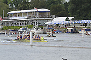 Henley, GREAT BRITAIN,  Remenham Challenge Cup. Munchener Ruderclub von 1880E.V. and Hurter Rudergesellschaft. GER.  at the 1.1/8 mile post during  their Thursday race. 2012 Henley Royal Regatta. 2012 Henley Royal Regatta. ..Thursday  11:12:49  28/06/2012. [Mandatory Credit, Peter Spurrier/Intersport-images]...Rowing Courses, Henley Reach, Henley, ENGLAND . HRR.