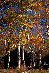 Lower South Branch Pond, Baxter S.P., ME. Camping. A lean-to is home in the beautiful Northern Forest fall.