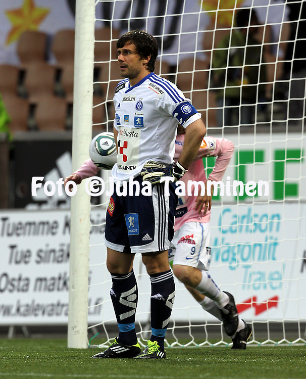 29.5.2011, Sonera stadion, Helsinki..Veikkausliiga 2011, FC HJK Helsinki - JJK Jyv?skyl?..Ville Wallen - HJK.