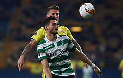 February 21, 2019 - Villarreal, Castellon, Spain - Daniel Raba of Villarreal CF and Tiago Ilori of Sporting Lisboa during the UEFA Europa League Round of 32 Second Leg match between Villarreal and Sporting Lisboa at Estadio de La Ceramica on February 21, 2019 in Vila-real, Spain. (Credit Image: © AFP7 via ZUMA Wire)