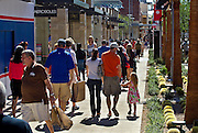 Shoppers make their way along the walkways during the Grand Opening of Downtown Summerlin on Thursday, October 9, 2014. L.E. Baskow