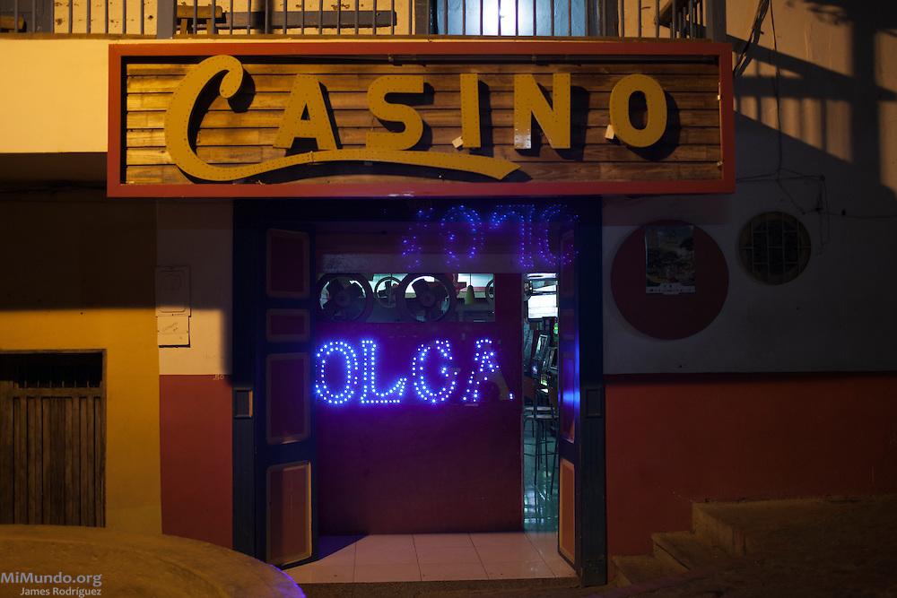 Casino Olga. Ciudad Bolivar, Antioquia, Colombia. September 25, 2013.