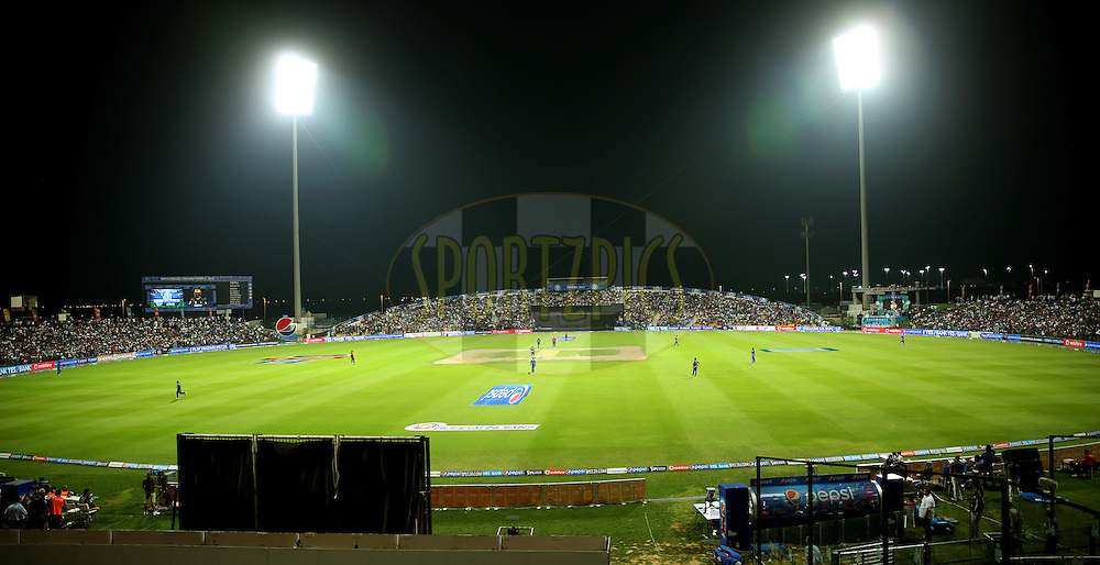 GV of the Ground during match 1 of the Pepsi Indian Premier League Season 7 between the Mumbai Indians and The Kolkata Knight Riders held at the Sheikh Zayed Stadium, Abu Dhabi, United Arab Emirates on the 16th April 2014<br /> <br /> Photo by Sandeep Shetty/ IPL / SPORTZPICS