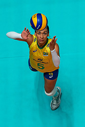 29-05-2019 NED: Volleyball Nations League Poland - Brazil, Apeldoorn<br /> Ana Paula Borgo Bedani Guedes #5 of Brazil