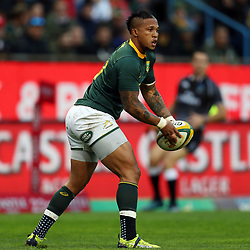Elton Jantjies of South Africa during the 2018 Castle Lager Incoming Series 3rd Test match between South Africa and England at Newlands Rugby Stadium,Cape Town,South Africa. 23,06,2018 Photo by (Steve Haag JMP)