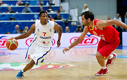 Andrew Albicy of France vs Jose Calderon of Spain during basketball game between National basketball teams of France and Spain at FIBA Europe Eurobasket Lithuania 2011, on September 11, 2011, in Siemens Arena,  Vilnius, Lithuania.  (Photo by Vid Ponikvar / Sportida)