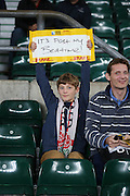 Young England fan during the Rugby World Cup Pool A match between England and Australia at Twickenham, Richmond, United Kingdom on 3 October 2015. Photo by Matthew Redman.