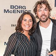 NLD/Amsterdam/20171004 - Première Borg/McEnroe, Dione de Graaff en partner Nado Boers