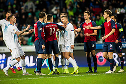 Bezjak Roman of Slovenia and Mohamed Elyounoussi of Norway during football match between National Teams of Slovenia and Norwey in UEFA Nations League 2019, on November 16, 2018 in SRC Stozice, Ljubljana, Slovenia. Photo by Grega Valancic / Sportida