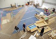 Monroe, New York - Work continues on the interior of the new South Orange Family YMCA on Friday, Feb. 4, 2011.