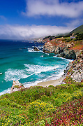The Big Sur coast at Rocky Point, Big Sur, California USA