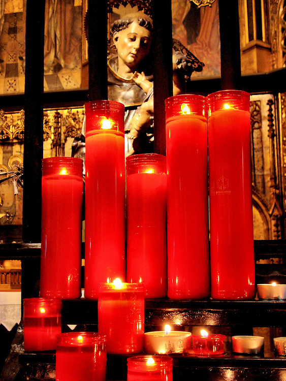 Barcelona Cathedral&rsquo;s St. Cristo de Lepanto Chapel in Ciutat Vella District in Barcelona, Spain <br />