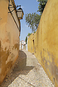 SILVES, PORTUGAL - JULY 18, 2006: View to the narrow street in Silves, Portugal.