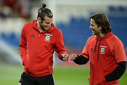 Gareth Bale of Wales fist bumps Joe Allen of Wales - Mandatory by-line: Alex James/JMP - 12/11/2016 - FOOTBALL - Cardiff City Stadium - Cardiff, United Kingdom - Wales v Serbia - FIFA European World Cup Qualifiers