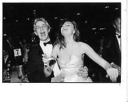 Simon Clapham and Fiona Feely. Winter Ball. Grosvenor House. London. 1982 approx.© Copyright Photograph by Dafydd Jones 66 Stockwell Park Rd. London SW9 0DA Tel 020 7733 0108 www.dafjones.com